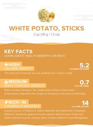 White potato, sticks