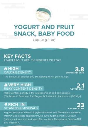 Yogurt and fruit snack, baby food