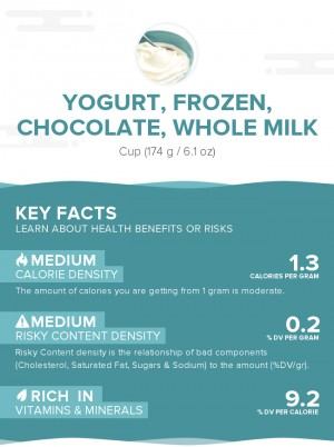 Yogurt, frozen, chocolate, whole milk