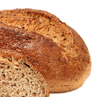 Bread, rye, reduced calorie and/or high fiber