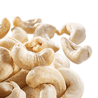 Cashew nuts, dry roasted, without salt