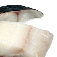 Halibut, baked or broiled, made with cooking spray