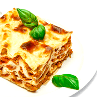 Lasagna with meat, canned