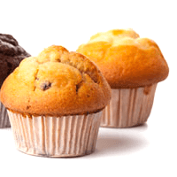 Muffin, fruit, low fat