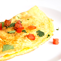 Omelet egg with chili
