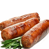 Sausage, Fresh, Pork, Cooked