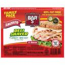Bar-S Deli Shaved Smoked Turkey Breast, 21 oz