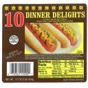 Dinner Delight Hot Dogs, 10 count, 16 oz