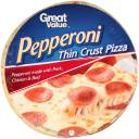 Great Value Pepperoni Thin Crust Pizza, 16.5 oz