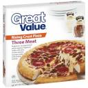 Great Value Rising Crust Three Meat Pizza, 30.5 oz