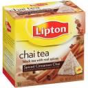 Lipton Spiced Cinnamon Chai Pyramid Tea Bags, 18 count, 1.3 oz