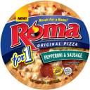 Roma for 1 Original Pepperoni & Sausage Pizza, 5.36 oz