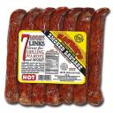 Savoie's Hot Smoked Sausages Links, 7 count
