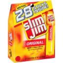 Slim Jim Original Smoked Snack Sticks, 0.28 oz, 28 count