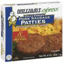 Williams Express Fully Cooked Pork Sausage Patties, 8ct
